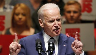 In this Thursday, April 7, 2016, file photo, Vice President Joe Biden speaks at an event in Las Vegas. (AP Photo/John Locher) ** FILE **