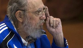 """I'll be 90 years old soon,"" Fidel Castro said in his most extensive public appearance in years. ""Soon I'll be like all the others. The time will come for all of us, but the ideas of the Cuban Communists will remain as proof on this planet that if they are worked at with fervor and dignity, they can produce the material and cultural goods that human beings need, and we need to fight without a truce to obtain them."" (Associated Press)"