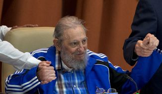 In his most extensive public appearance in years, Fidel Castro told Tuesday's congress in a valedictory speech to continue fighting for their communist ideals, regardless of the fact that he, himself, is nearing the end of this life. (Associated Press)