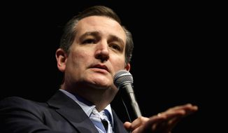 Republican presidential candidate, Sen. Ted Cruz, R-Texas speaks during a rally at the Weinberg Center for the Arts in Frederick, Md., Thursday, April 21, 2016. (AP Photo/Patrick Semansky)