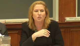 "A Harvard Law School student is under fire after asking longtime Israeli politician and former foreign minister Tzipi Livni why she is ""so smelly"" during a public discussion on Israeli-Palestinian negotiations. (YouTube/@PON HLS)"