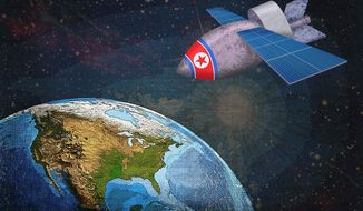North Korea Satellite Technology Illustration by Greg Groesch/The Washington Times