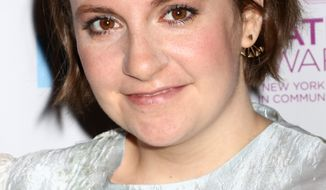 Honoree Lena Dunham attends the 2016 New York Women in Communications Matrix Awards at the Waldorf Astoria on Monday, April 25, 2016, in New York. (Photo by Greg Allen/Invision/AP)