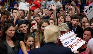 Donald Trump meets his fans at a recent event in Berlin, Maryland. (Associated Press)