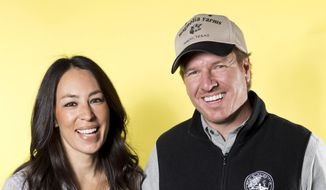 "In this March 29, 2016, file photo, Joanna Gaines, left, and Chip Gaines pose for a portrait in New York to promote their home improvement show, ""Fixer Upper,"" on HGTV. (Photo by Brian Ach/Invision/AP) ** FILE **"