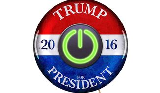 Trump Campaign Reboot Button Illustration by Greg Groesch/The Washington Times