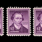 U.S. stamp of Patrick Henry. Image created by Scott Lamb using image of stamp from Wikimedia.