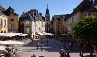 The ancient town of Sarlat in southwestern France. The amazingly well-preserved architecture makes it seem like time has stood still here since the Middle Ages.