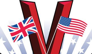 Alliance of the United States and Britain Illustration by Linas Garsys/The Washington Times