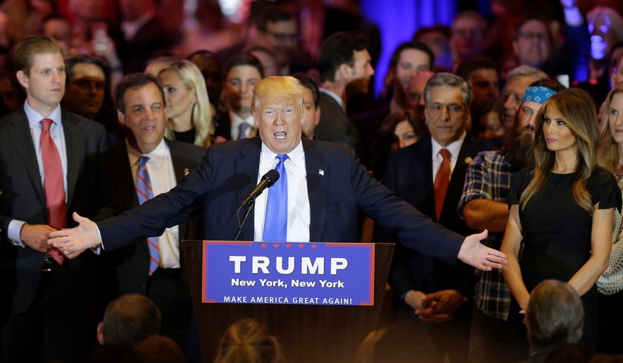 With major primary victories Tuesday, GOP front-runner Donald Trump needs only a majority of the remaining states to win on the party's first convention ballot. (Associated Press)