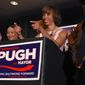 Senator Catherine Pugh speaks on election night with her staff and supporters at the Baltimore Harbor Hotel on Tuesday, April 26, 2016, in Baltimore. Pugh, a three-term state senator who also runs a public relations firm, has won the Democratic nomination in Baltimore's mayoral race.  (Lloyd Fox/The Baltimore Sun via AP) WASHINGTON EXAMINER OUT; MANDATORY CREDIT