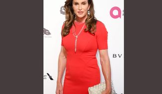 "In this Feb. 28, 2016 file photo, Caitlyn Jenner arrives at the 2016 Elton John AIDS Foundation Oscar Viewing Party at West Hollywood Park in West Hollywood, Calif. Caitlyn Jenner has taken up Donald Trump's offer and used the women's restroom at one of his luxury buildings. The Republican presidential candidate said last week that he believes transgender people should be able to use whichever bathroom they choose. Trump said North Carolina's so-called ""bathroom law,"" which directs transgender people to use the bathroom that matches the gender on their birth certificates, has caused unnecessary strife. Trump said that if Jenner were to walk into Trump Tower, she could use whichever bathroom she wanted. (Photo by Rich Fury/Invision/AP, File)"