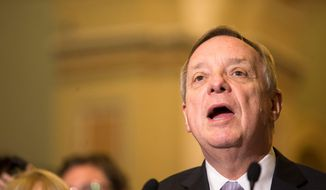 Senate Minority Whip Sen. Richard Durbin of Illinois said he believes a revamped criminal justice bill can pass both houses of Congress. (Associated Press)