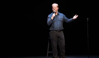 Comedian Jim Gaffigan performs at a David Lynch Foundation Benefit for Veterans with PTSD at New York City Center on Saturday, April 30, 2016, in New York. (Photo by Scott Roth/Invision/AP) **FILE**