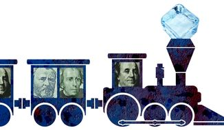 Climate Change Gravy Train Illustration by Greg Groesch/The Washington Times