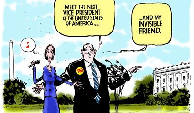 Meet the vice president of the United States of America ... (Illustration by Jack Ohman of the Sacramento Bee)