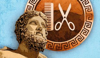 The Greek Barber Illustration by Greg Groesch/The Washington Times