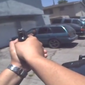 Body camera image from police in Rialto, California.