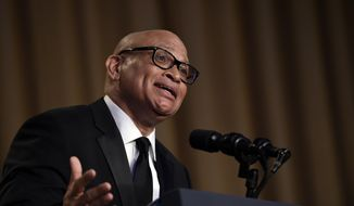 In this April 30, 2016, file photo, Larry Wilmore speaks at the annual White House Correspondents' Association dinner in Washington. (AP Photo/Susan Walsh, File)