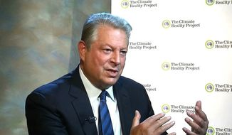 """Al Gore is among the """"global luminaries"""" assembling in the nation's capital on Thursday for a massive climate change summit. (Associated Press)"""