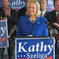 Kathy Szeliga, a Republican member of the Maryland House of Delegates, is hoping to turn on of Maryland's U.S. Senate seat from blue to red. (Associated Press)