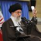 In November, Ayatollah Khamenei addressed hundreds of Basij commanders who wore camouflage fatigues and red headbands. Ayatollah Khamenei has increasingly relied on the Basij to counter what he perceives to be internal threats. (Associated Press)