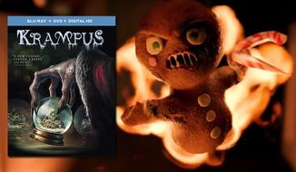 "A gingerbread man helps celebrate the holidays in ""Krampus,"" now available from Universal Studios Home Entertainment."