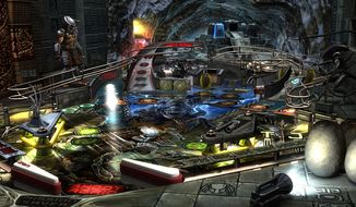 "Zen Studios' Aliens vs. Pinball features  a table based on the film ""Alien vs. Predator."""