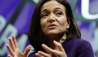 In this Nov. 3, 2015, file photo, Facebook chief operating officer Sheryl Sandberg speaks during a forum in San Francisco. Sandberg said in a touching Mother's Day weekend Facebook post that until her husband's death she never realized how hard it is to be a single parent. (AP Photo/Eric Risberg, File)