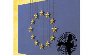 The Perfect Storm to Break up the European Union Illustration by Greg Groesch/The Washington Times