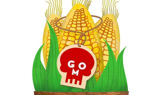GMO Label Nightmare Illustration by Greg Groesch/The Washington Times