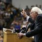 Democratic presidential candidate, Sen. Bernie Sanders, I-Vt., speaks during a campaign rally on Tuesday, May 10, 2016, in Salem, Ore.  (Danielle Peterson/Statesman-Journal via AP) MANDATORY CREDIT