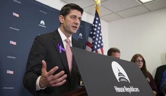 House Speaker Paul Ryan of Wis. speaks during a news conference on Capitol Hill in Washington, Wednesday, May 11, 2016. (AP Photo/Evan Vucci)