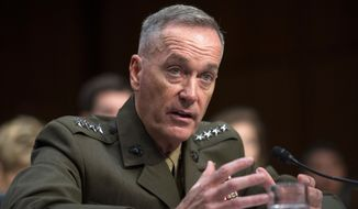 Marine Corps Gen. Joseph Dunford took over as chairman of the Joint Chiefs of Staff in September 2015. He is scheduled to retire in 2019. (Associated Press)