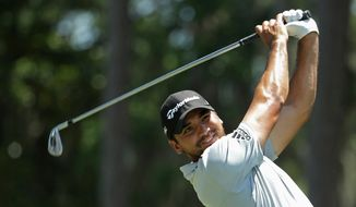 Jason Day, of Australia, hits from the sixth tee during the first round of The Players Championship golf tournament Thursday, May 12, 2016, in Ponte Vedra Beach, Fla. (AP Photo/Lynne Sladky)
