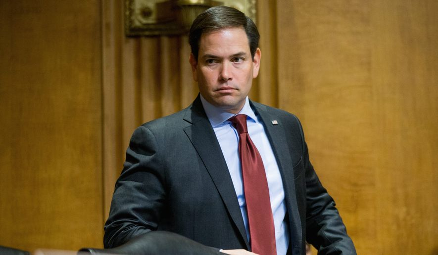 Sen. Marco Rubio, Florida Republican, is co-sponsoring legislation to fully fund President Obama's nearly $2 billion emergency spending request. He said that if the spending can be offset, that's fine. But also said he was OK tacking it onto the debt. (Associated Press)