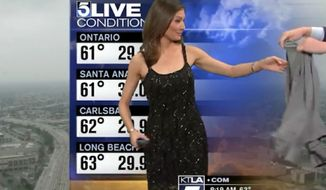 Liberte Chan, a KTLA meteorologist who gained national attention after she was told to cover up her bare shoulders on air, is now defending the network, saying the live stunt was just a joke.
