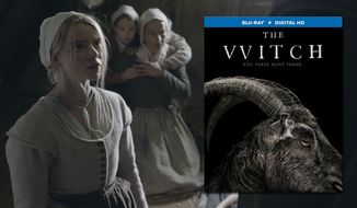 """From left to right: Anya Taylor-Joy (""""Thomasin,"""" left), Ellie Grainger (""""Mercy,"""" center) and Kate Dickie (""""Katherine,"""" right) star in Lionsgate Home Entertainment's """"The Witch,"""" now available on Blu-ray."""