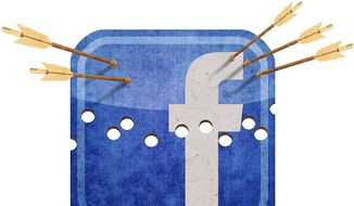 Facebook Under Attack Illustration by Greg Groesch/The Washington Times