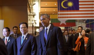 Cultivating relationships: President Obama will make his final trip to the G-7 summit next week, including a visit to Vietnam, where the president hopes to foster a mutual relationship against Chinese expansion in the waters around the country. (Associated Press)