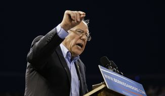 In this May 17, 2016, file photo, Democratic presidential candidate Sen. Bernie Sanders, I-Vt., speaks at a rally in Carson, Calif. (AP Photo/Jae C. Hong, File)