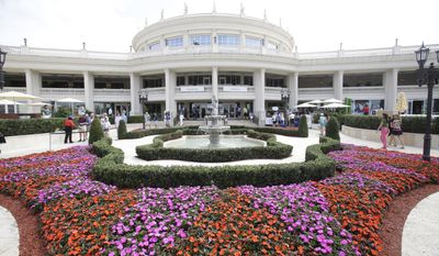 In this photo taken March 7, 2016, the Trump National Doral clubhouse is seen in Doral, Fla. (AP Photo/Wilfredo Lee)