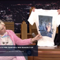 """Screen capture from NBC.com video of Miley Cyrus promoting new """"pro choice"""" T-shirt on the May 17, 2016 edition of The Tonight Show Starring Jimmy Fallon."""