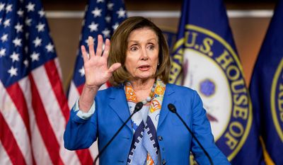 House Minority Leader Nancy Pelosi of Calif. speaks during her weekly news conference on Capitol Hill in Washington, Thursday, May 19, 2016. In a breakthrough, House Republicans and Democrats have agreed to a deal to help rescue Puerto Rico from $70 billion in debt.  (AP Photo/Andrew Harnik)