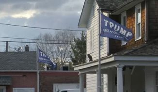 New Jersey homeowner Joseph Hornick has won his fight to fly his Donald Trump flags proudly outside his home after a judge dismissed charges against him Wednesday. (NBC New York)