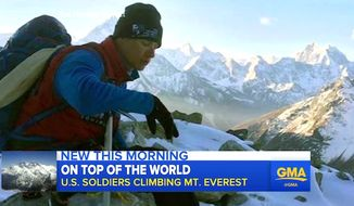 Charlie Linville climbs Mount Everest (ABC News screenshot)