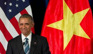 President Obama in Hanoi. (Associated Press)