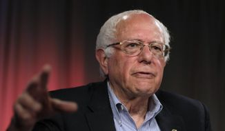 Democratic presidential candidate Sen. Bernie Sanders, I-Vt., speaks during an interview with The Associated Press, Monday, May 23, 2016, in Los Angeles. (AP Photo/Jae C. Hong)
