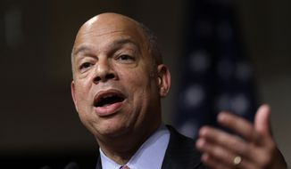 Homeland Security Secretary Jeh Johnson. (Associated Press) ** FILE **