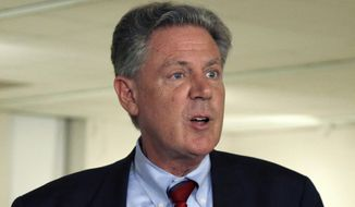Rep. Frank Pallone Jr. speaks in Trenton, N.J., on June 10, 2013. (Associated Press) **FILE**
